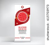 banner roll up vector  red... | Shutterstock .eps vector #615703973