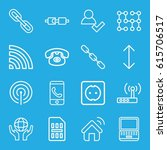 connection icons set. set of 16 ... | Shutterstock .eps vector #615706517