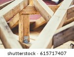 fixed joining with metal plate... | Shutterstock . vector #615717407