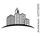 city building icon image  | Shutterstock .eps vector #615723053