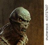 alien x 3d illustration   Shutterstock . vector #615727637
