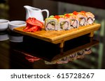 sushi rolls | Shutterstock . vector #615728267