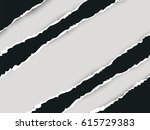 ripped black paper and white... | Shutterstock .eps vector #615729383