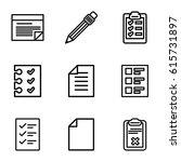 list icons set. set of 9 list... | Shutterstock .eps vector #615731897