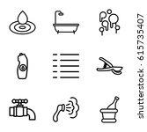 drop icons set. set of 9 drop...   Shutterstock .eps vector #615735407