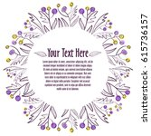 floral ornament. template for... | Shutterstock .eps vector #615736157