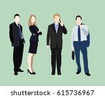 vector people in flat style.... | Shutterstock .eps vector #615736967