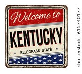 welcome to kentucky vintage... | Shutterstock .eps vector #615740177