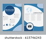 modern business two sided flyer ... | Shutterstock .eps vector #615746243