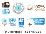 vector cotton icons set... | Shutterstock .eps vector #615757193