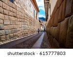 cusco peru old street | Shutterstock . vector #615777803