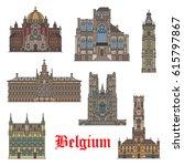 Belgian Travel Landmarks Thin...
