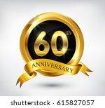 60 years anniversary... | Shutterstock .eps vector #615827057