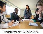 strong confident powerful... | Shutterstock . vector #615828773