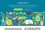 modern flat infographic ecology ... | Shutterstock .eps vector #615836393