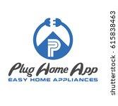 plug home app logo | Shutterstock .eps vector #615838463