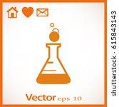 flat beaker icon | Shutterstock .eps vector #615843143