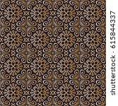 seamless mandalas pattern.... | Shutterstock .eps vector #615844337