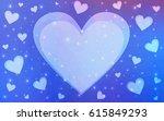light blue  red vector heart...   Shutterstock .eps vector #615849293