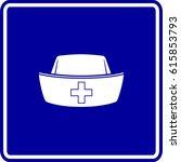 nurse hat sign | Shutterstock .eps vector #615853793