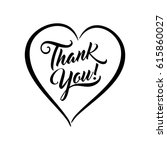 thank you beautiful lettering... | Shutterstock .eps vector #615860027