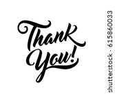 thank you beautiful lettering... | Shutterstock .eps vector #615860033
