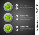 web infographic template with... | Shutterstock .eps vector #615860243