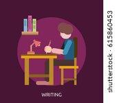 writing conceptual design | Shutterstock .eps vector #615860453