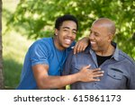 african american father and son.   Shutterstock . vector #615861173