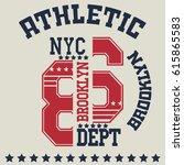 new york  typography fashion... | Shutterstock .eps vector #615865583