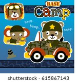 lion elephant and bear are the... | Shutterstock .eps vector #615867143