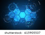 vector abstract background... | Shutterstock .eps vector #615905537