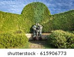 fountain called fauna and flora ... | Shutterstock . vector #615906773