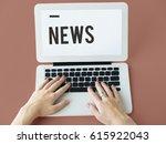 latest news subscribe update  | Shutterstock . vector #615922043
