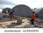 16 march 2015. syrian refugee...   Shutterstock . vector #615933593