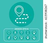 map icon vector flat design...