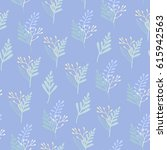 seamless pattern with botanical ... | Shutterstock .eps vector #615942563