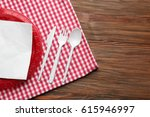 red plastic disposable... | Shutterstock . vector #615946997