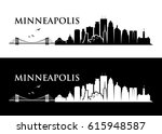 minneapolis skyline   minnesota ... | Shutterstock .eps vector #615948587