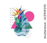 abstract summer geometric...   Shutterstock . vector #615949193