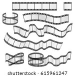 vector film strip set. film... | Shutterstock .eps vector #615961247