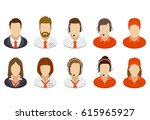 set of business people icons.... | Shutterstock . vector #615965927