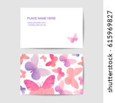 visiting card vector template... | Shutterstock .eps vector #615969827