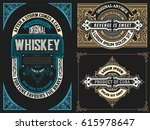 set of logos and cards | Shutterstock .eps vector #615978647