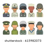 set icon character russian and... | Shutterstock .eps vector #615982073