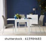 interior design of dining room... | Shutterstock . vector #615984683