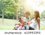 candid portrait of multi... | Shutterstock . vector #615992393