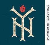 new york city vintage textured... | Shutterstock .eps vector #615994523