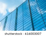 abstract building. blue glass... | Shutterstock . vector #616003007