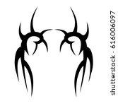 tattoo sketch tribal vector... | Shutterstock .eps vector #616006097